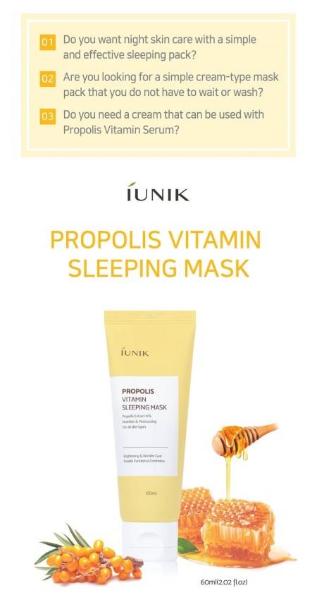 Iunik Propolis Sleeping Mask1